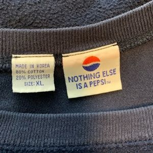 Pepsi Tops - Pepsi Vintage Crewneck Sweatshirt Navy Blue XL